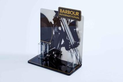 Barber branded 3D display unit