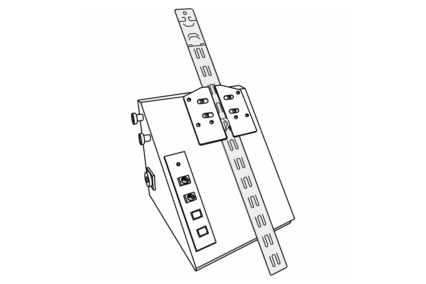 Line drawing of a Clipstrip loading machine