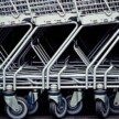 Shopping trollies all stacked together