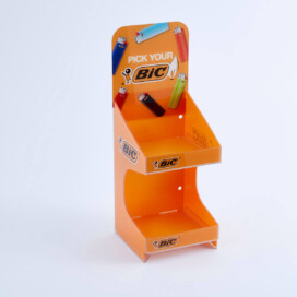 Bic 2 tier counter display unit