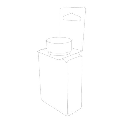 Line drawing of a 20V AAK10 Bottle Tag on a bottle