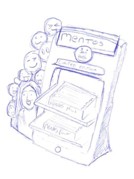 concept sketch for a counter top display unit