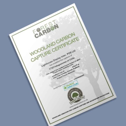 Lighthouse Display Forest Carbon Certificate