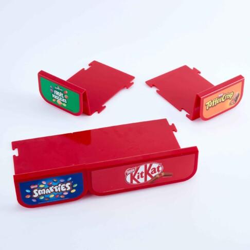 Nestle branded perm shelf display