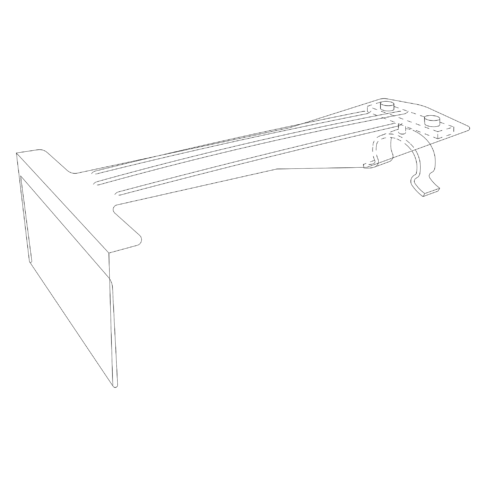 Line drawing of a Peg Barker with Saddle