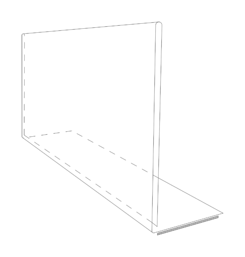 Line drawing of a Folded barker