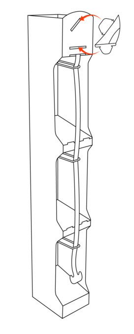 Line drawing of Wlikinson Sword totem